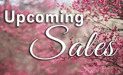 Upcoming Spring Sales